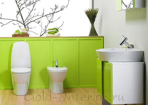 Эко-стиль в дизайне интерьера туалетной комнаты