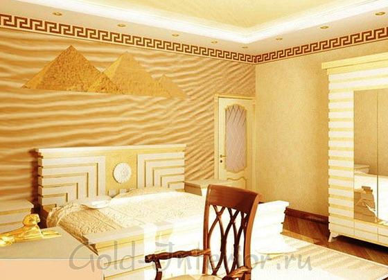Египетские узоры в спальне