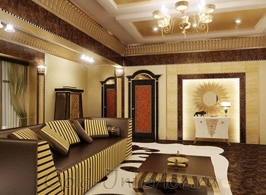Египетский интерьер гостиной