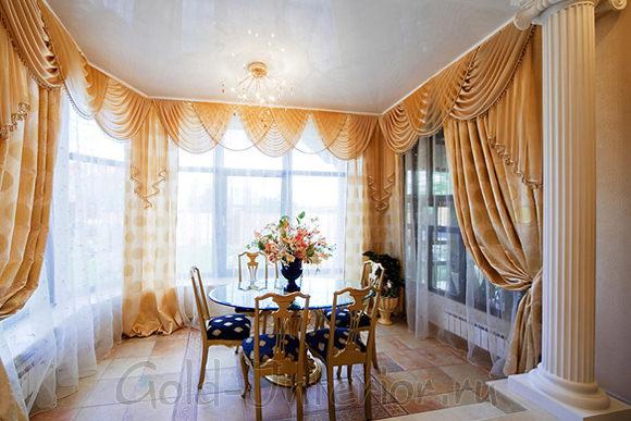 Элегантные шторы с ламбрекеном своими руками