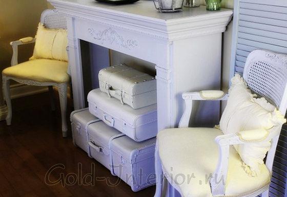 Фальшкамин для квартиры в винтажном стиле