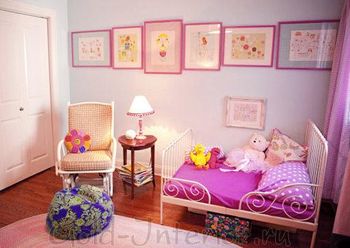 Фиолетовые оттенки в детской комнате