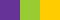 Фиолетовый и жёлто-зелёный с жёлто-оранжевым