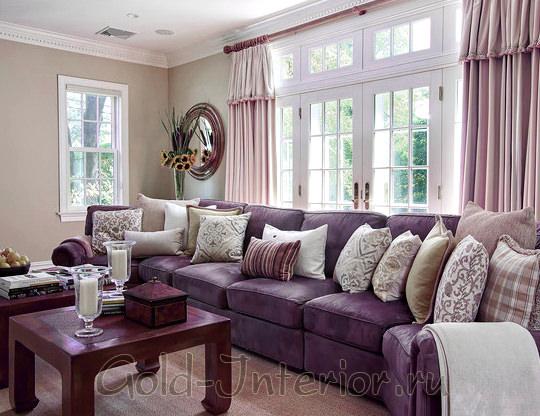 Фиолетовый + сиреневый - классическое сочетание