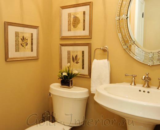 Фотокартины в оформлении туалета