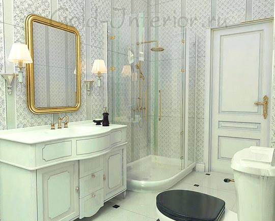 Французский стиль в дизайне ванной и туалета