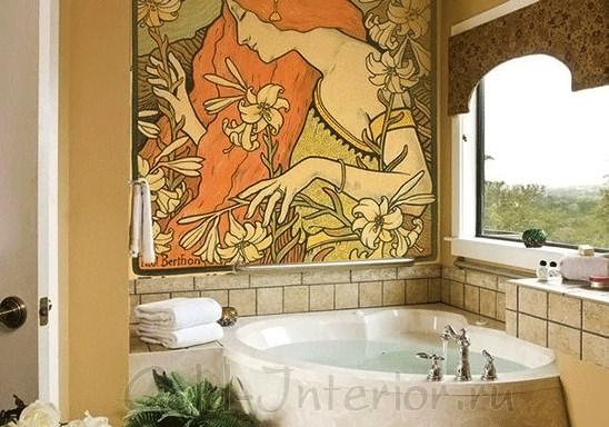 Фреска в ванной стиля арт-нуво