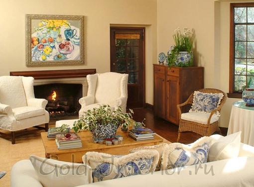 Фруктовый натюрморт в дизайне гостиной