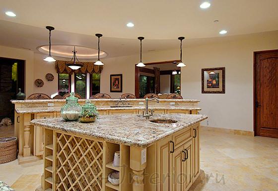 Галогенки в интерьере кухни