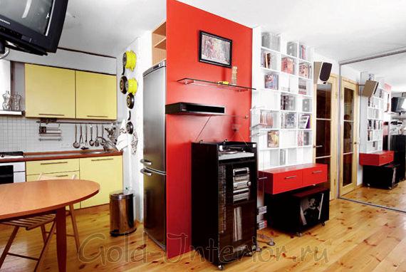 Гармоничная палитра в комнате и на кухне