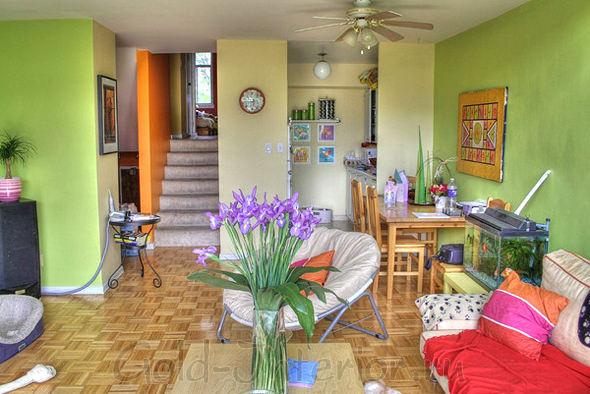 Гостиная и кухня совмещены в одно пространство