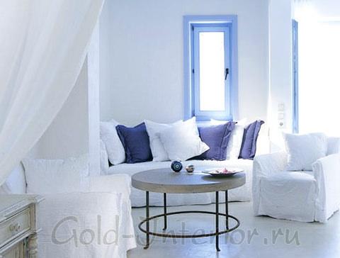 Греческий стиль: синий + белый