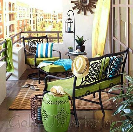 Идея оформления для балкона или лоджии