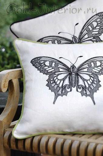 Идея для украшения интерьера бабочками