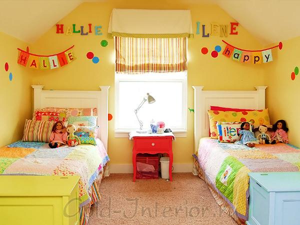 Интерьер комнаты для двух девочек