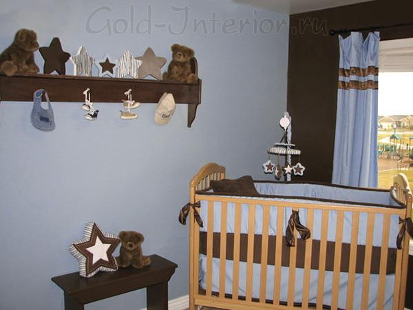 Интерьер комнаты для новорождённого мальчика