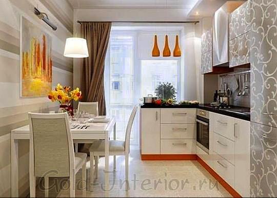 Интерьер шестиметровой кухни