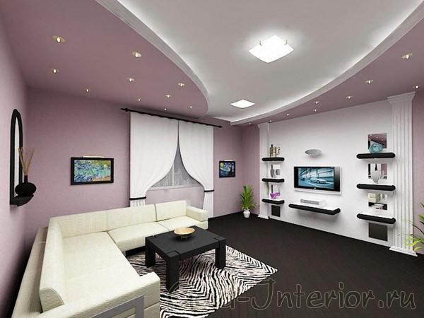 Красивый и функциональный интерьер зала в хрущёвке