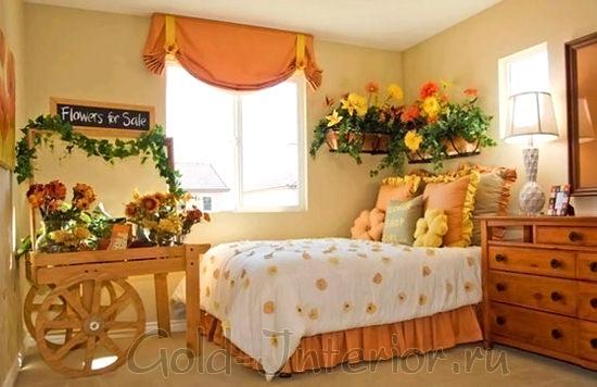 Изумительная спальня в стиле кантри