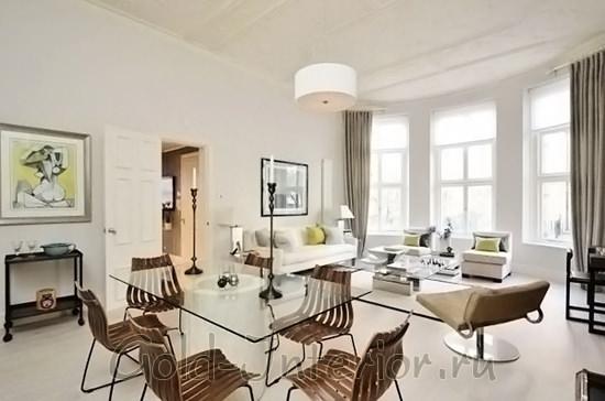 Изящная мебель для гостиной маленькой площади