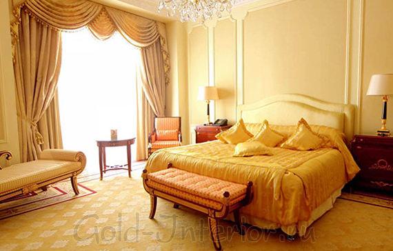 Жёлтые оттенки в интерьере спальни