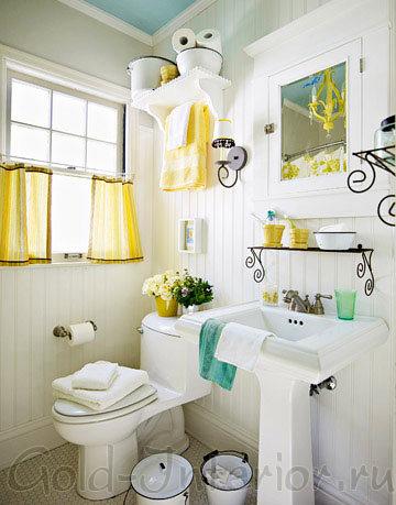 Кантри стиль в дизайне туалета