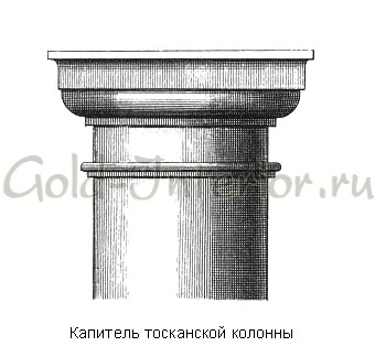 Капитель тосканской колонны