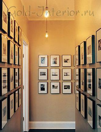 Картины в декоре узкого коридора