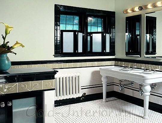 Классическая консоль в ванной