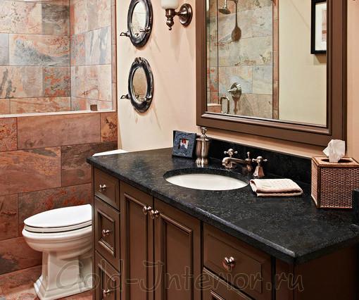 Классический стиль в интерьере современной ванны с туалетом
