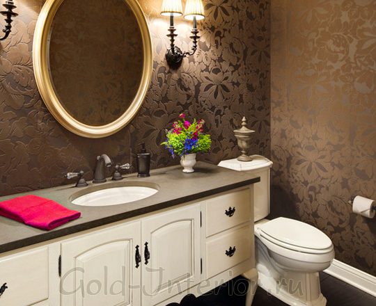 Классический стиль в интерьере туалета