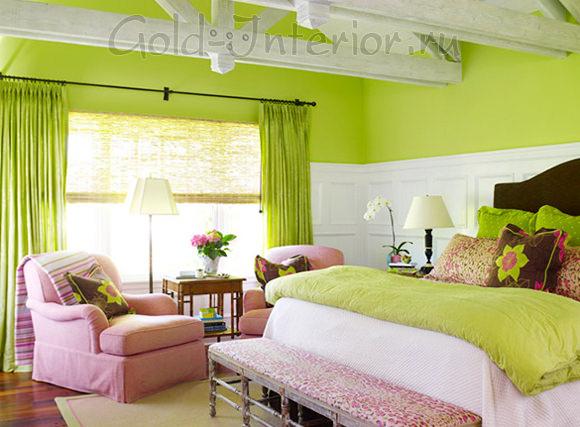 Классическое сочетание цветов: салатовый с розовым