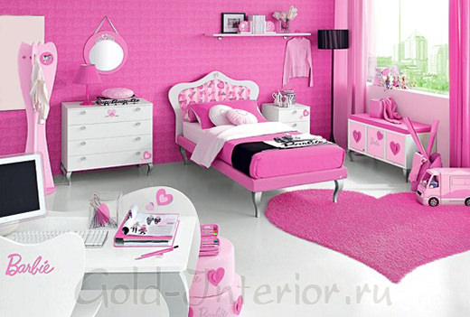 Комната для девочки по аналогии с домиком Барби