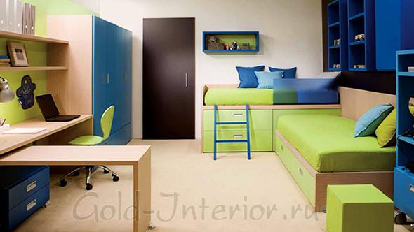 Комната для мальчика 12-14 лет