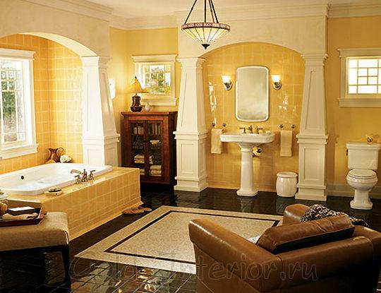 Комод в стиле арт-деко в ванной