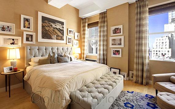 Композиции из фотографий в спальне
