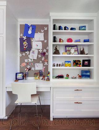 Компактное рабочее место в детской для подростка