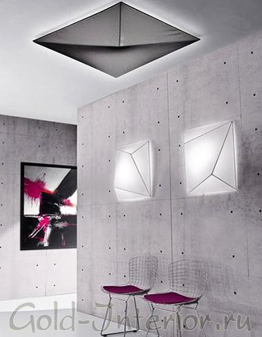 Красивые плафоны на стене - вид освещения среднего уровня