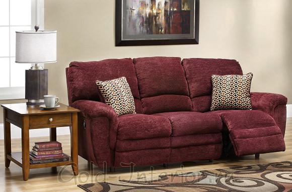 Красивый бордовый диван