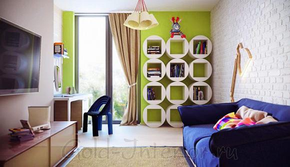 Красивый интерьер однокомнатной квартиры