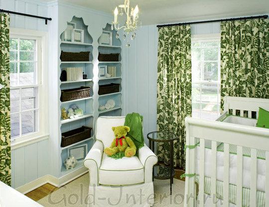 Красиво оформленные ниши в комнате для младенцев