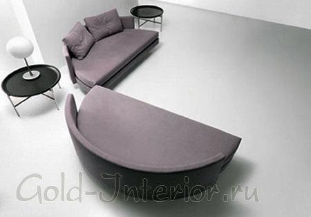 Кровать из двух полукругов