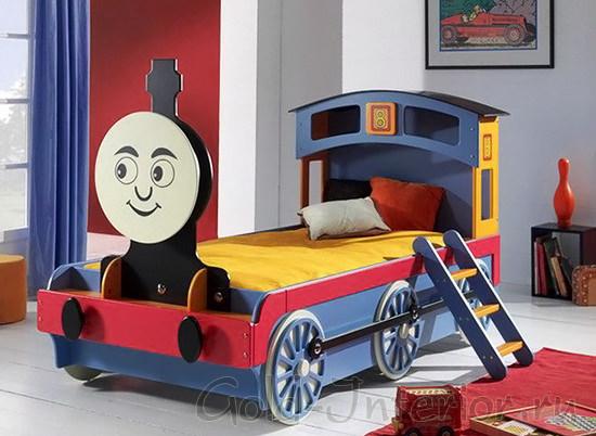 Кровать в виде паровозика