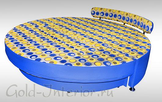 Круглый диван-кровать в разложенном виде