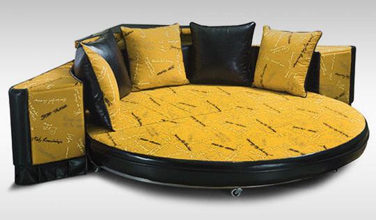Круглый угловой диван-кровать