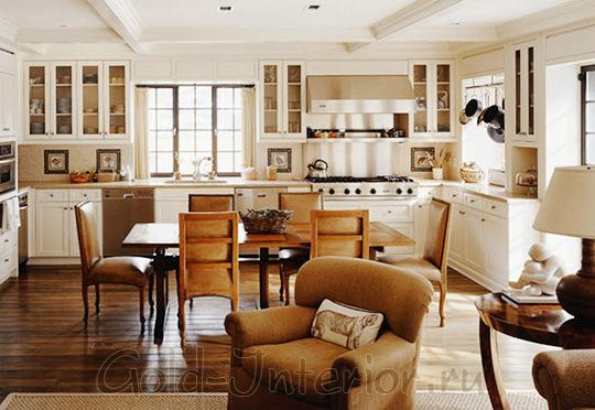 """Кухня-гостиная в стиле """"проверенной классики"""""""