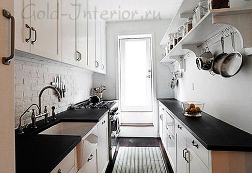 Кухня 8 кв.м. в стиле минимализм