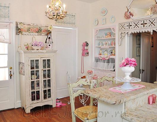 Кухонная мебель в стиле шебби-шик