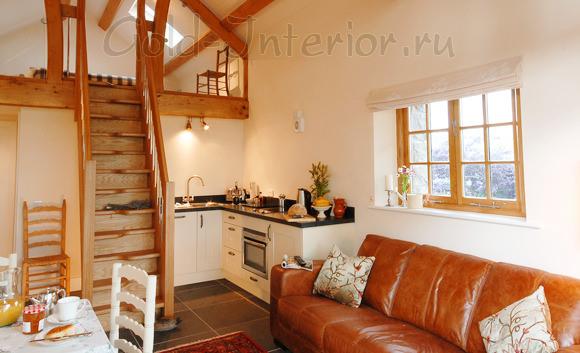 Кухонный диван из натуральной кожи