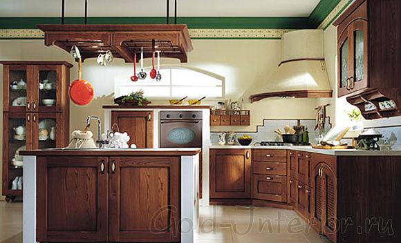 Кухонный гарнитур в стиле ампир